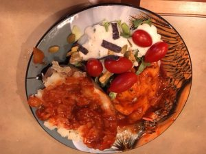 Hawaiian Crock Pot Chicken Plated